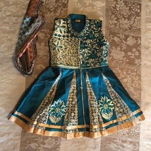 India exotic formal dress very intricate & ornate